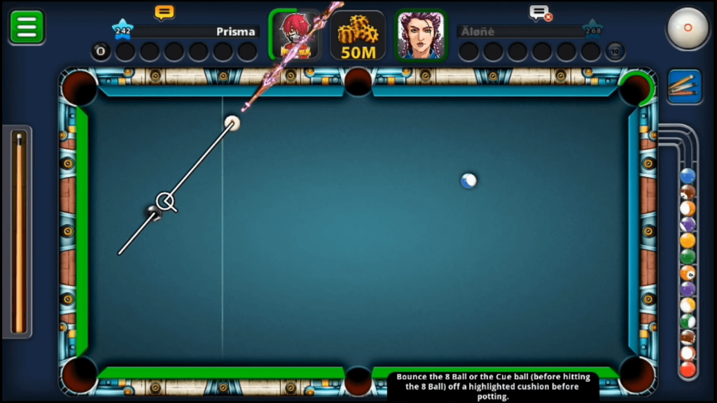 8 ball pool features