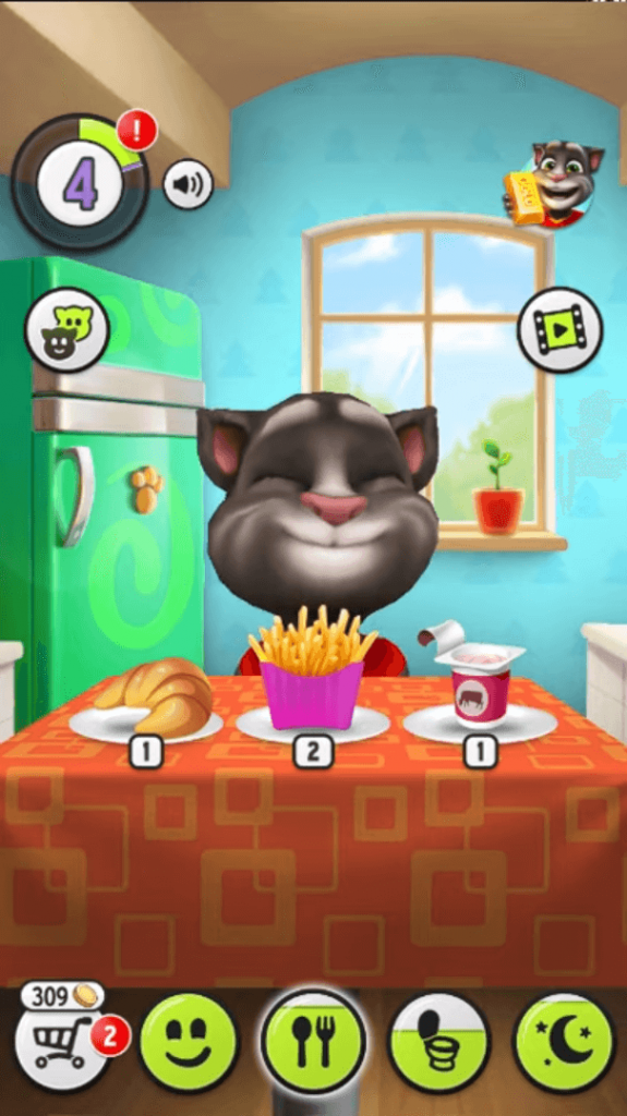 my talking tom game play